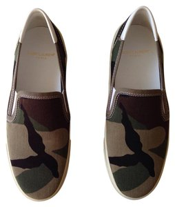 Saint Laurent Camo Flats