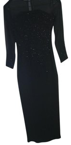 Bieff basix Sheer Formal Sequin Longsleeve Dress