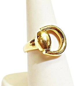 Gucci Gucci Horsebit 18K Yellow Gold Ring Sz 6.5 ITALY.