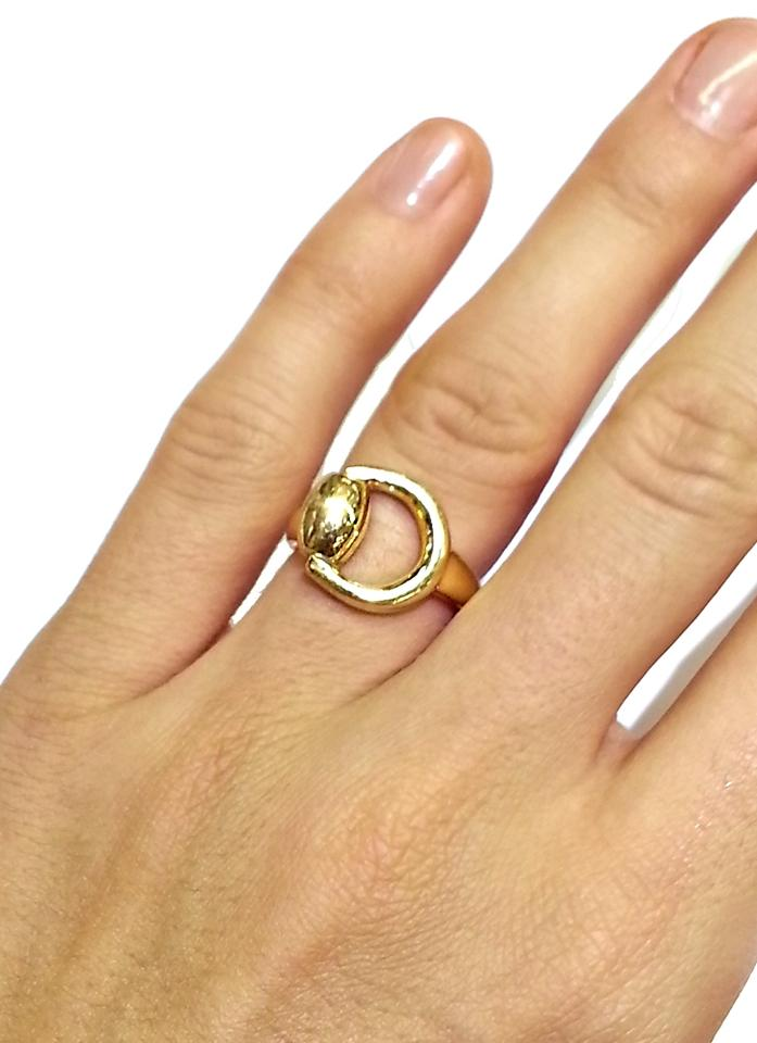 791e5729c6 Gucci Horsebit 18k Yellow Gold 6.5 Italy. Ring