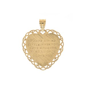 Avital & Co Jewelry For My Mom Heart Pendant 14k Yellow Gold