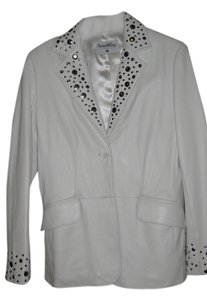 Pamela McCoy White Leather Jacket