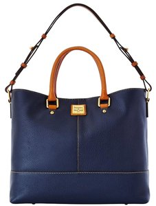 Dooney & Bourke Pebble Leather Tote in Navy