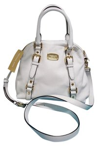 Michael Kors Nwt Bowling Satchel in Optic white