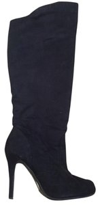 CL by Laundry Knee High Suede Fall Black Boots