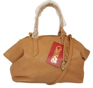 Carlos by Carlos Santana Leather Lined Satchel in Camel