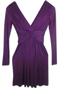 Purple Maxi Dress by BCBGMAXAZRIA Longsleeve Evening Night Out Satin