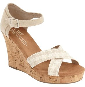 TOMS Strappy Wedge Wedge Natural linen Wedges