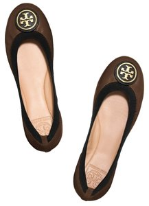 Tory Burch Ballet Flat Patent Leather Java Brown Flats