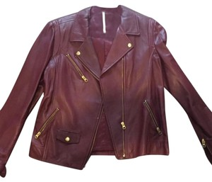 Truth and Pride Burgandy Leather Jacket