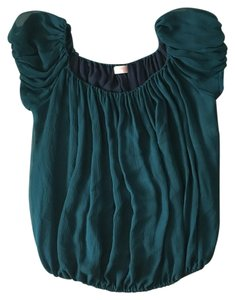 Samantha Treacy Anthropologie Top Hunter Green / Dark Teal