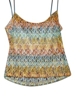 FUEGA Sheer Lace Lace Top MULTI