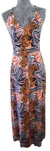 orange/multi Maxi Dress by S-Twelve