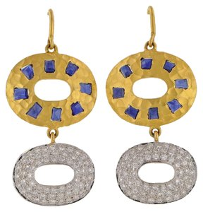 Lunia Lunia Coera Collection 18k Gold, Sapphire and Diamond Earrings