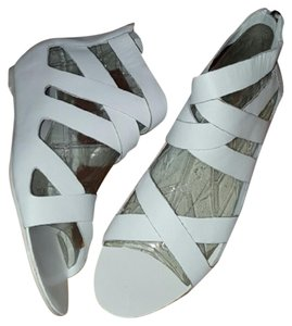 DV by Dolce Vita Leather Marci Straps Smooth White Sandals