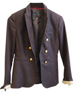 Banana Republic Navy Gold Buttons Fitted Navy Blue Blazer
