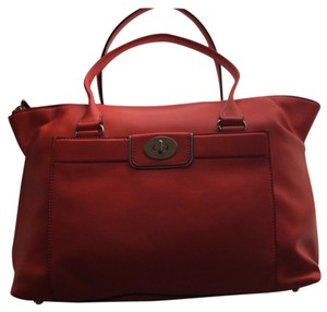 Kate Spade Leather Sapde Classic Satchel in Red (Kate Spade Color Flame)