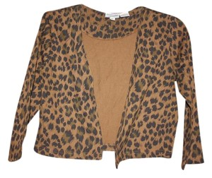 Newport News Cardigan Sweater LEOPARD Blazer