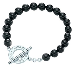 Tiffany & Co. Bead bracelet of black onyx and sterling silver.