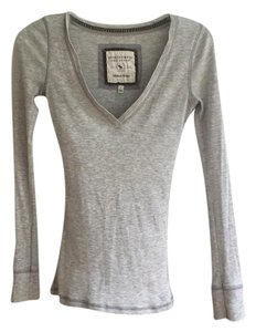 Abercrombie & Fitch T Shirt Light Grey