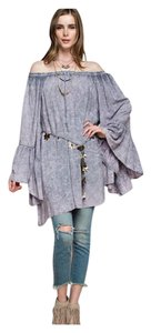 Other Bohemian Bell Sleeve Off Burnout Blouse Tunic