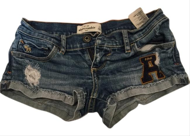 Abercrombie & Fitch Kids Denim Shorts-Light Wash