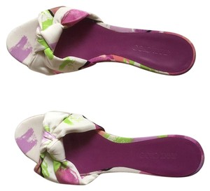 Jimmy Choo White, Lilac, purple, lime Wedges