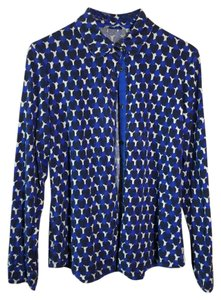 Boden Crinkle Jersey Button Down Button Down Shirt Blues