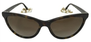 Chanel Cat Eye Pearl Chain Tortoise Polarized Sunglasses 5341H C714/S9
