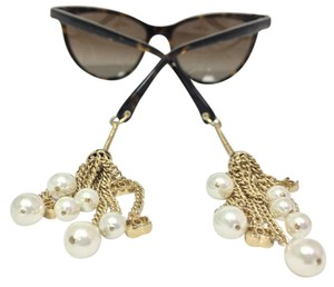 c9055db490 Chanel Cat Eye Pearl Chain Tortoise Polarized Sunglasses 5341H C714 S9