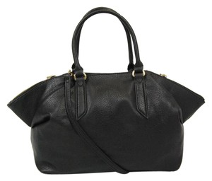 Carlos by Carlos Santana Leather Satchel in Black