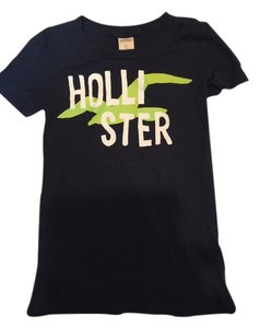 Hollister Women's Tee T Shirt navy Blue