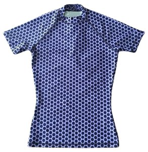 J.Crew NWT J.CREW Short Sleeve RASH GUARD Swim Shirt Top/Purple Polka Dot