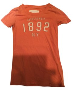 Abercrombie & Fitch Women's Tee T Shirt Orange