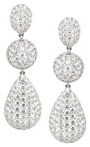 Other 18K White Gold 3.55Ct Diamond Drop Earrings 7.8 Grams