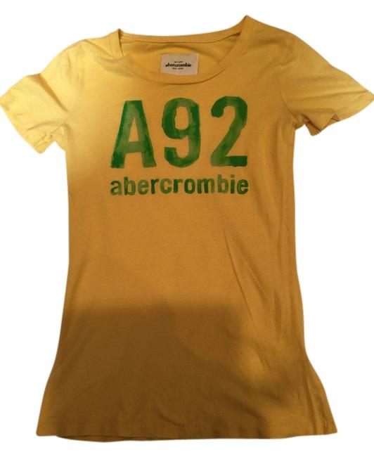Preload https://item1.tradesy.com/images/abercrombie-and-fitch-yellow-women-s-t-shirt-1842475-0-0.jpg?width=400&height=650