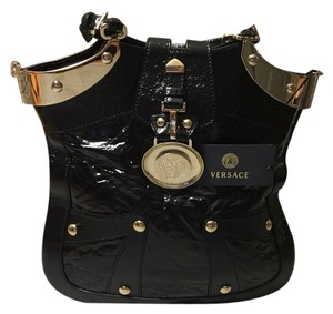 Versace Tote in Black / Gold