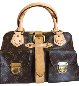 Louis Vuitton Canvas Manhattan Satchel in Monogram
