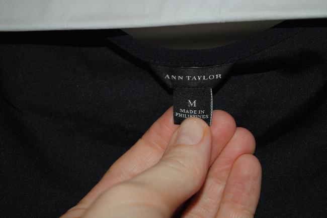 Ann Taylor Top Navy and white