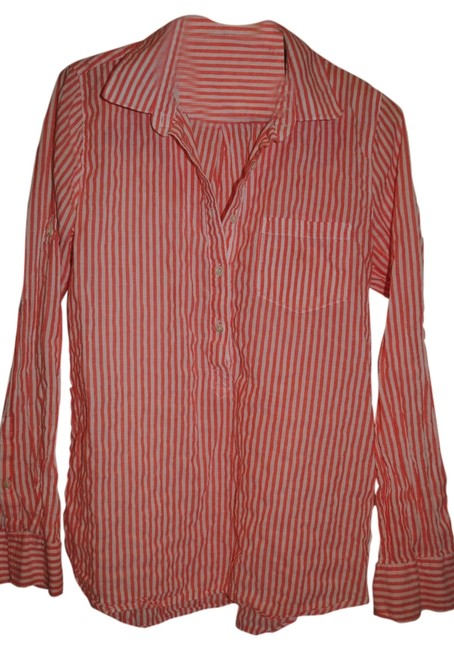 Preload https://item2.tradesy.com/images/jcrew-orange-and-white-striped-tunic-blouse-size-6-s-1842556-0-0.jpg?width=400&height=650