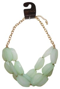 Wet Seal 3-Row Chunky Beaded Statement Necklace
