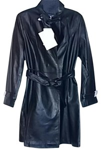 Centigrade Leather Women Trench Coat