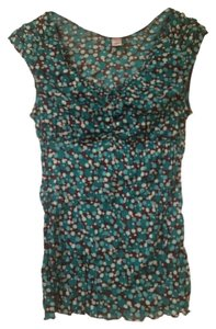 Other Polka Dot Ruching Flash Sale Top Green