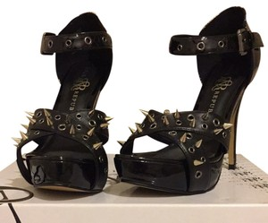Rock & Republic Fierce Studded Blinged Black Platforms