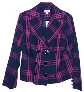 Cato Jacket Women Black and Red Blazer