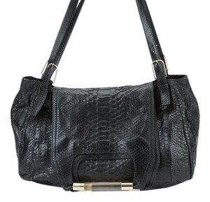 Chloé Nancy Python Tote in Black