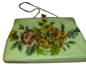 white with flowers Clutch