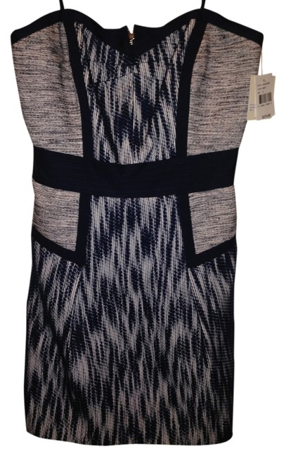 MILLY Ikat Jacquard Sweetheart Dress