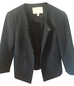 Banana Republic 3/4-length-sleeves Jacket Office Black Blazer