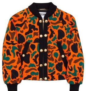 Moschino Orange black brown green Jacket